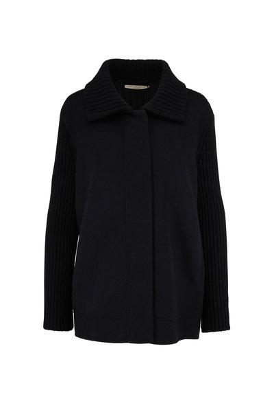 Rani Arabella - Black Cashmere Knit Sleeve Jacket