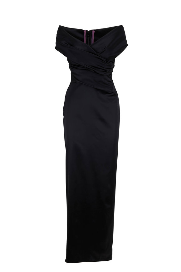 Talbot Runhof Tokara4 Black Cut Out Gown