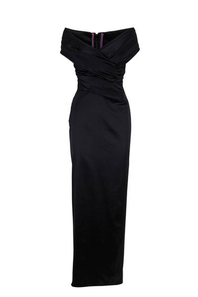 Talbot Runhof - Tokara4 Black Cut Out Gown