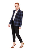 Veronica Beard - Hudson Blue Plaid Dickey Jacket