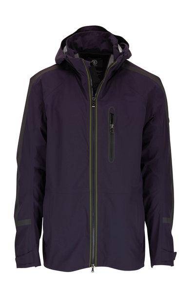 Bogner - Mailo Navy Blue Performance Nylon Golf Jacket