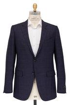 Ermenegildo Zegna - Navy Blue Glen Plaid Wool & Silk Suit