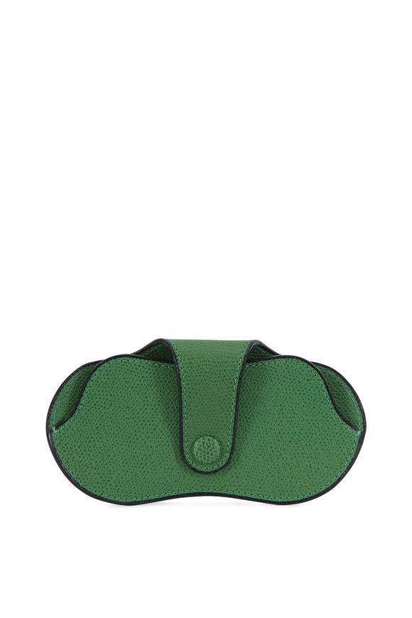 Valextra Bright Green Leather Eyeglass Case