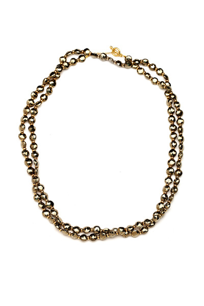 Syna - Long Gold Bead Chain Necklace