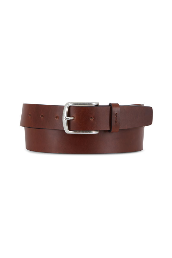 Trafalgar Lucas Dark Brown Leather Belt