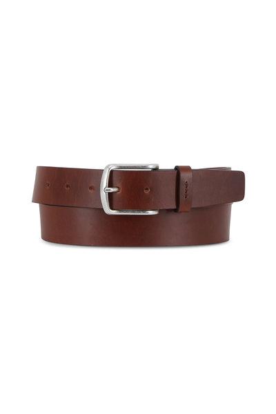 Trafalgar - Lucas Dark Brown Leather Belt