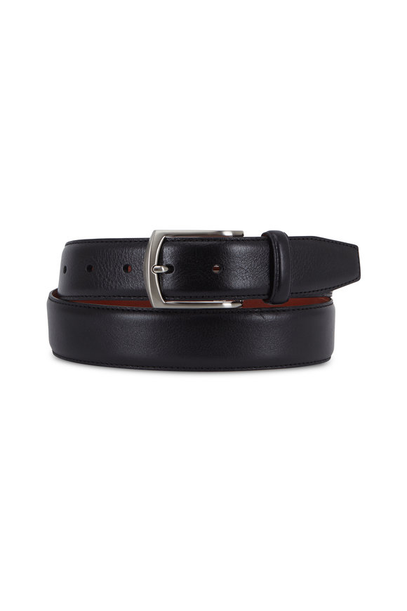 Trafalgar Antonio Black Leather Belt