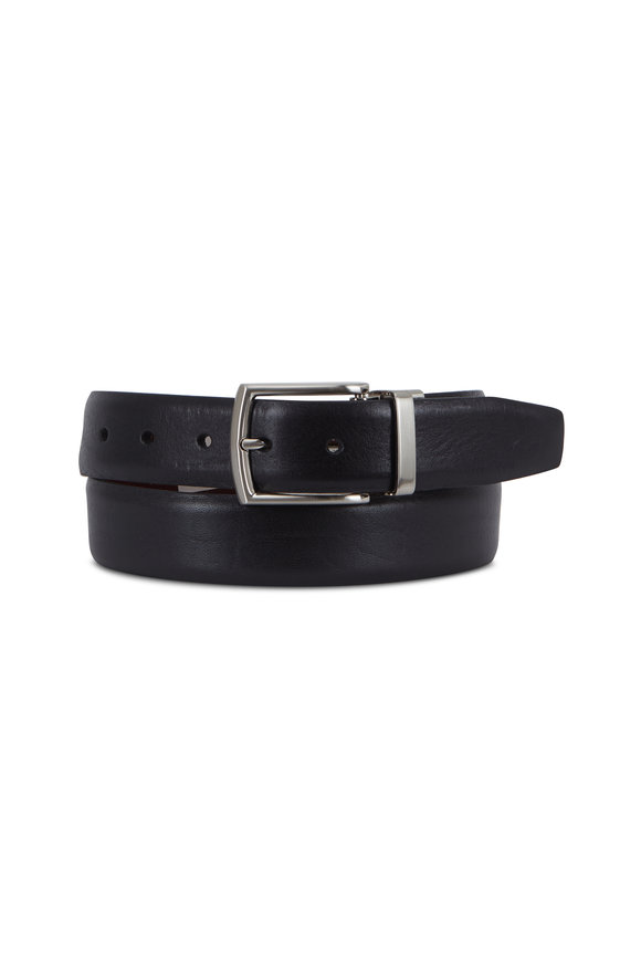 Trafalgar Filippo Black & Brown Reversible Leather Belt