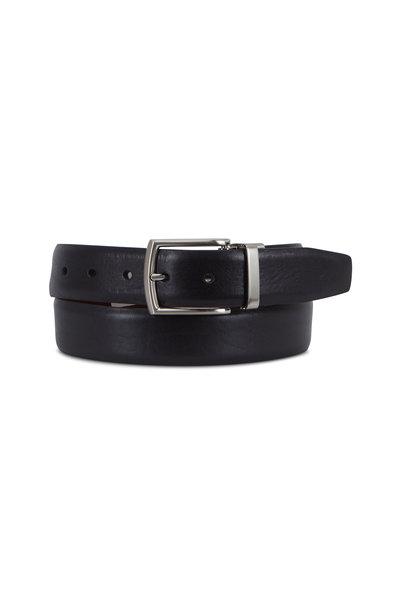 Trafalgar - Filippo Black & Brown Reversible Leather Belt