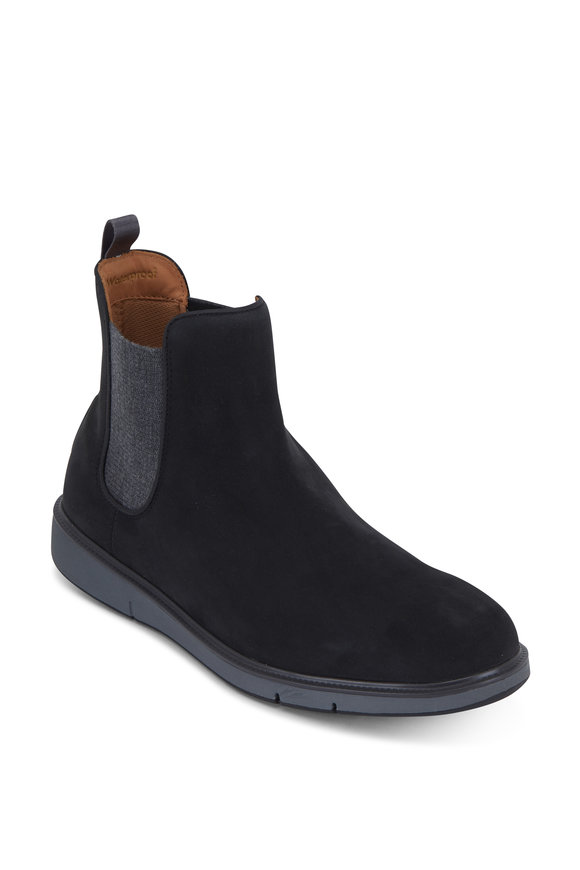 Swims Motion Black & Charcoal Gray Suede Chelsea Boot