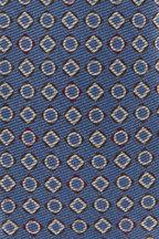 Kiton - Blue & Tan Geometric Necktie
