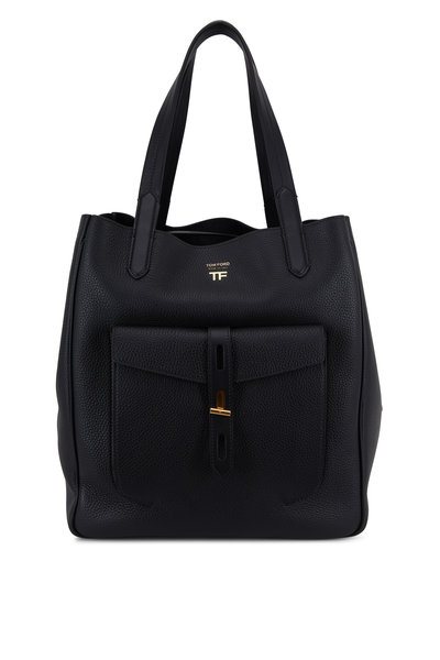 Tom Ford - Hollywood Black Grained Leather Medium Tote