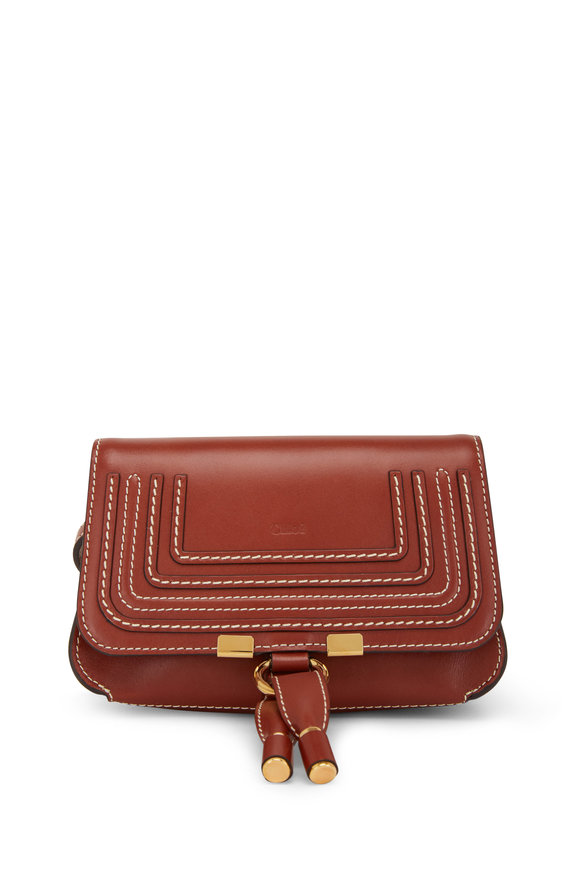 Chloé Marcie Brown Glossy Leather Mini Belt Bag