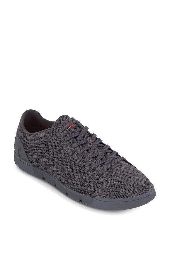 Swims Breeze Tennis Knit Dark Gray Sneaker
