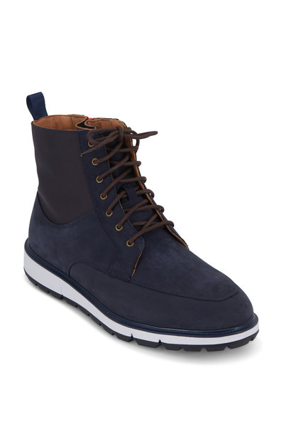 Swims - Motion Navy Blue & Orange Suede Country Boot