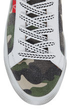 Veronica Beard - Sami Camo Canvas Lace-Up Sneaker