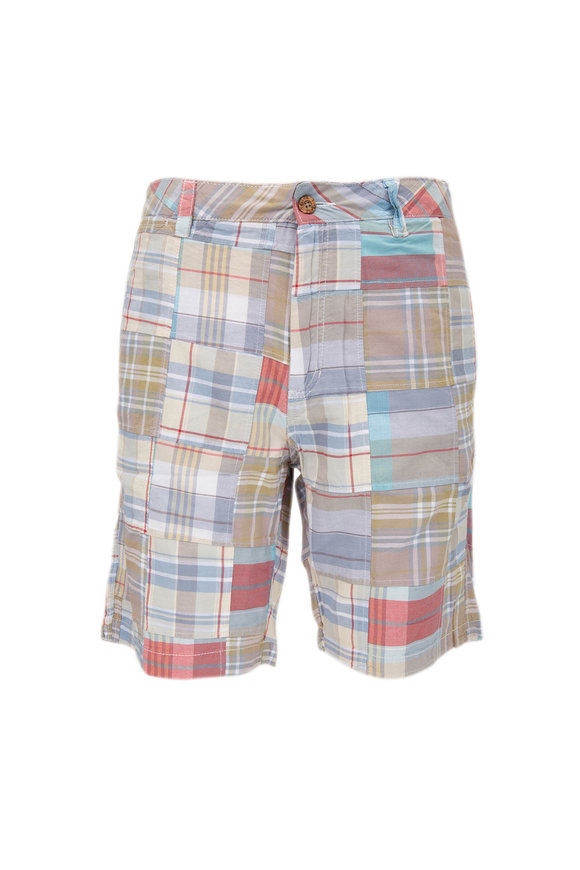 Tailor Vintage Multicolor Patchwork Walking Shorts