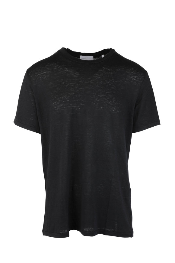 BLDWN Nolan Black Linen T-Shirt