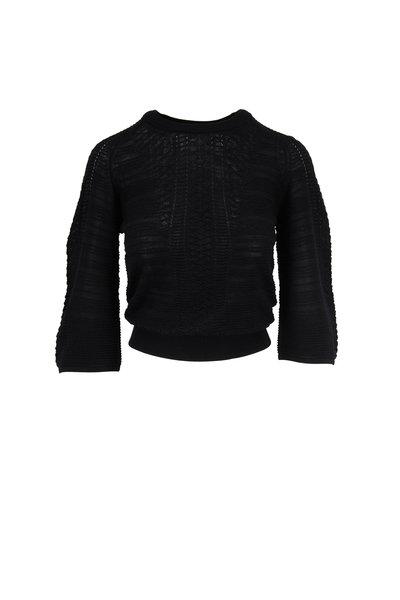 Chloé - Black Knit Wool Crewneck Top