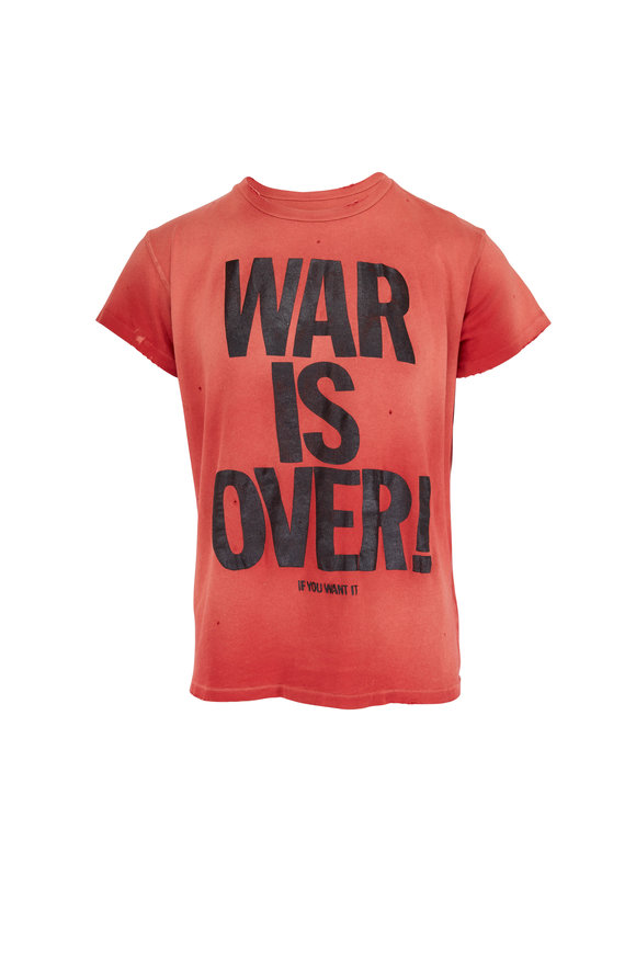 Madeworn War Is Over Red T-Shirt