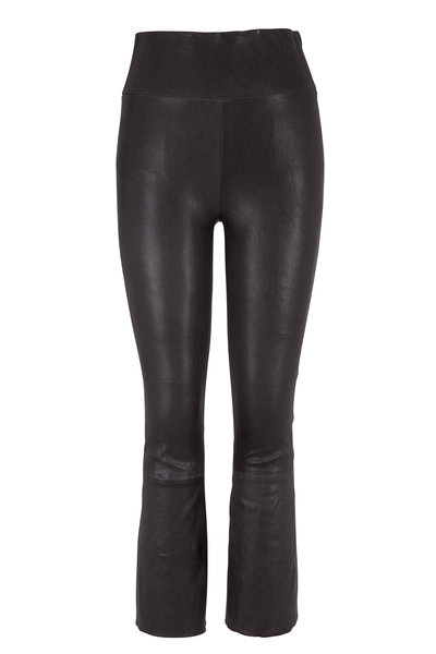 SPRWMN LLC - Anthracite Kick Flare Leather Legging