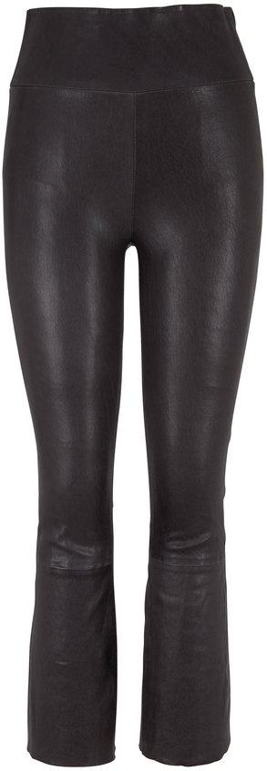SPRWMN LLC Anthracite Kick Flare Leather Legging