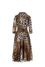 Samantha Sung - Aster Brown Leopard Print Belted Midi Dress