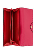 Fendi - Fuchsia Leather Continental Wallet