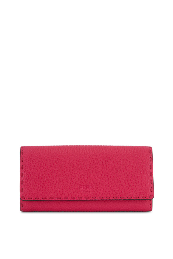Fendi Fuchsia Leather Continental Wallet