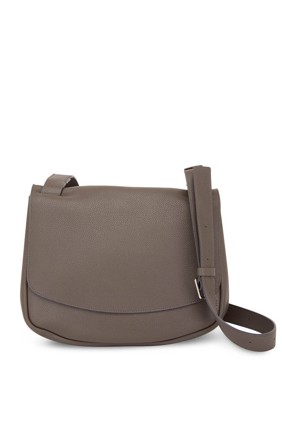 The Row Small Ash Gray Front Flap Mail Bag