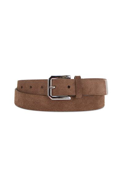 Brunello Cucinelli - Light Brown Suede Belt