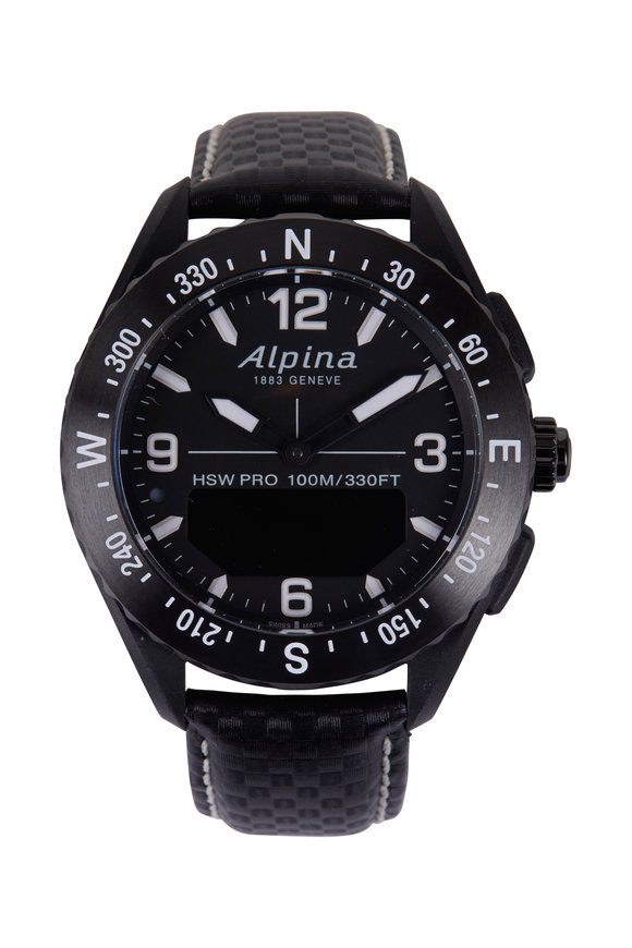 Alpina Alpiner X Black Smartwatch, 45MM