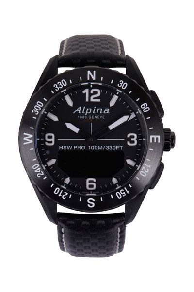 Alpina - Alpiner X Black Smartwatch, 45MM