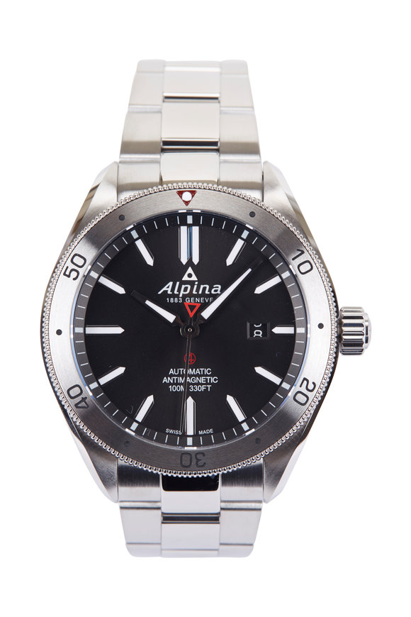 Alpina Alpiner 4 Black Faced Watch, 42MM