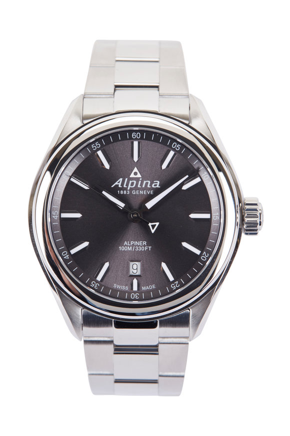 Alpina Alpiner Quartz Grey Watch, 42MM
