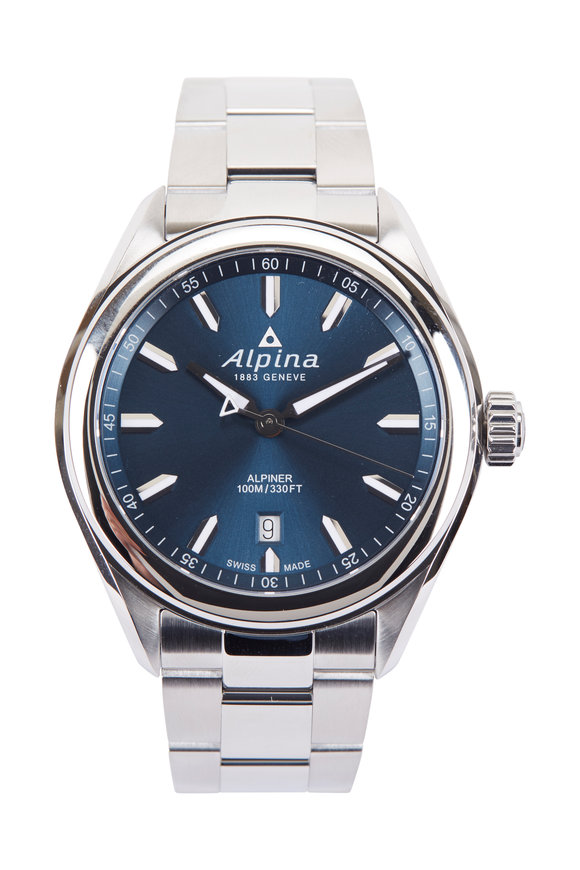 Alpina Alpiner Quartz Navy Watch, 42MM