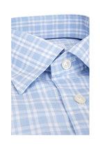 Eton - Light Blue & White Contemporary Fit Sport Shirt