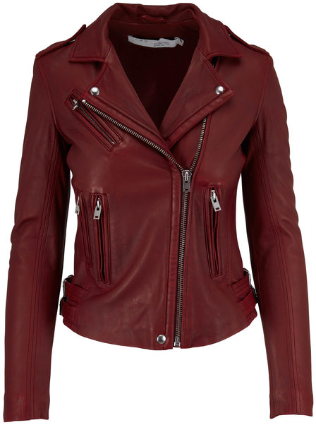 IRO Han Cardinal Red Leather Jacket