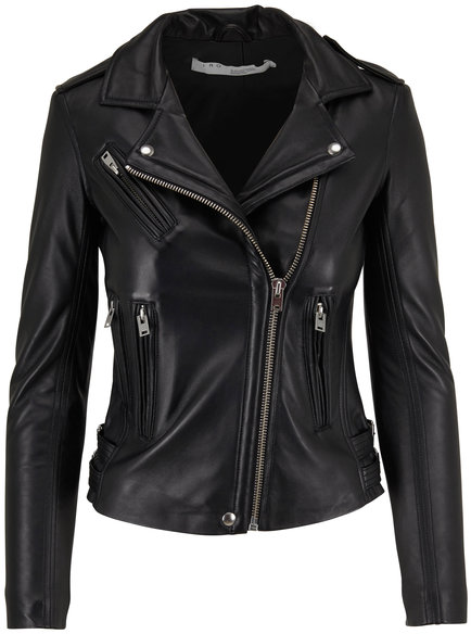 IRO Han Black Leather Jacket