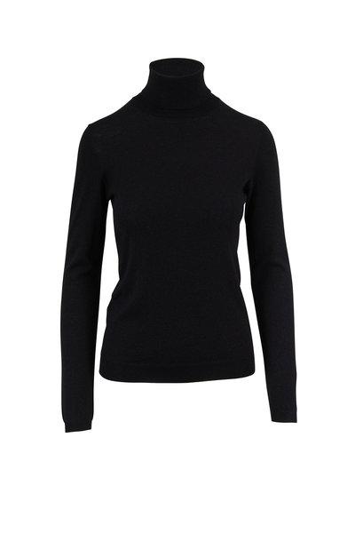Brunello Cucinelli - Black Cashmere & Silk Lurex Turtleneck Sweater