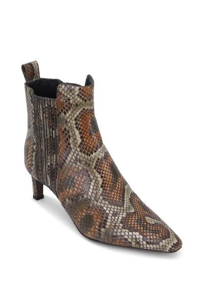 Brunello Cucinelli - Military Python Monili Side Ankle Bootie, 58mm
