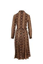 Michael Kors Collection - Suntan Python Crushed Silk-Georgette Shirtdress