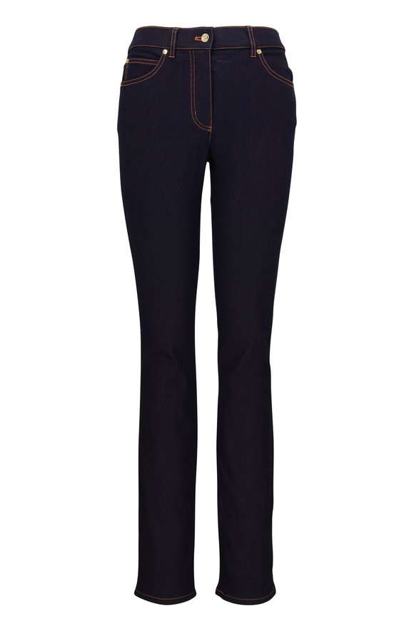 Escada J575 Dark Indigo Five-Pocket Slim Jean