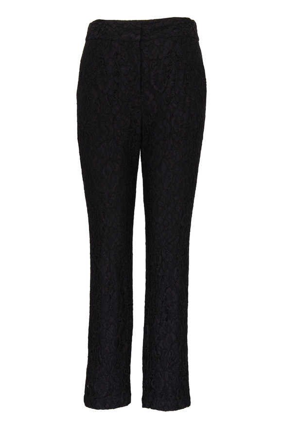 Veronica Beard Gemini Black Corded Lace Pant