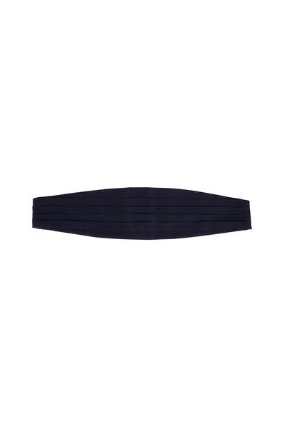 Dolce Punta - Navy Blue Grosgrain Silk Cummerbund