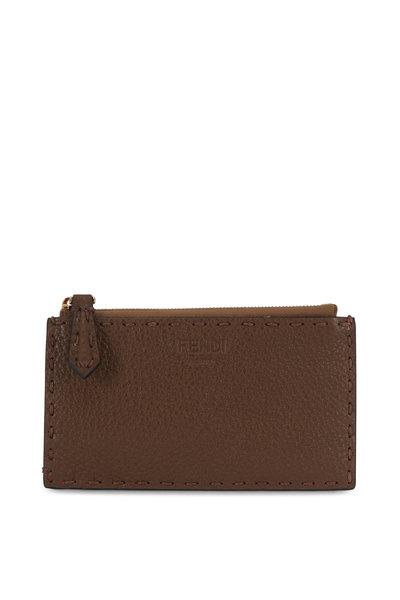 Fendi - Mudd Bi-Color Leather Pouch Card Case