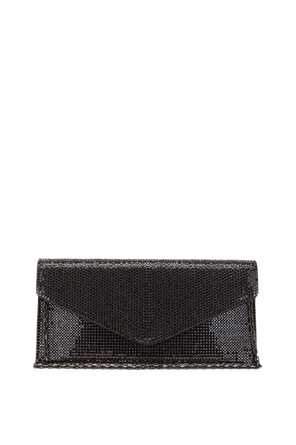 Judith Leiber Couture Jet Black Crystal Envelope Clutch