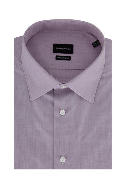 Ermenegildo Zegna - Trofeo Comfort Wine Dress Shirt