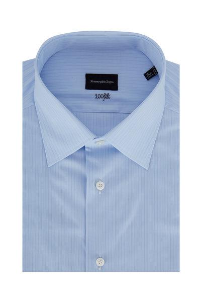 Ermenegildo Zegna - Light Blue Striped Dress Shirt