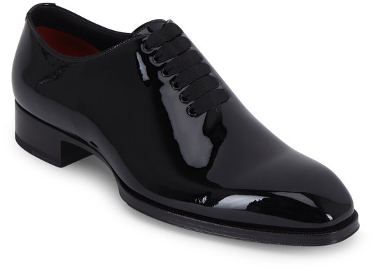 Tom Ford Elkan Black Patent Leather Oxford